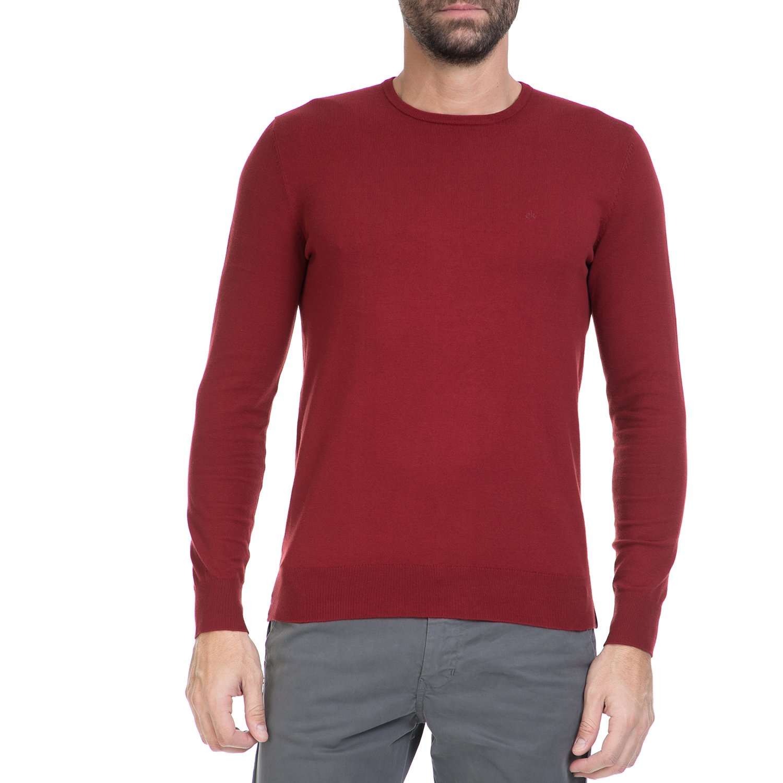 CALVIN KLEIN JEANS - Ανδρικό πουλόβερ STAG κόκκινο ανδρικά ρούχα πλεκτά ζακέτες μπλούζες