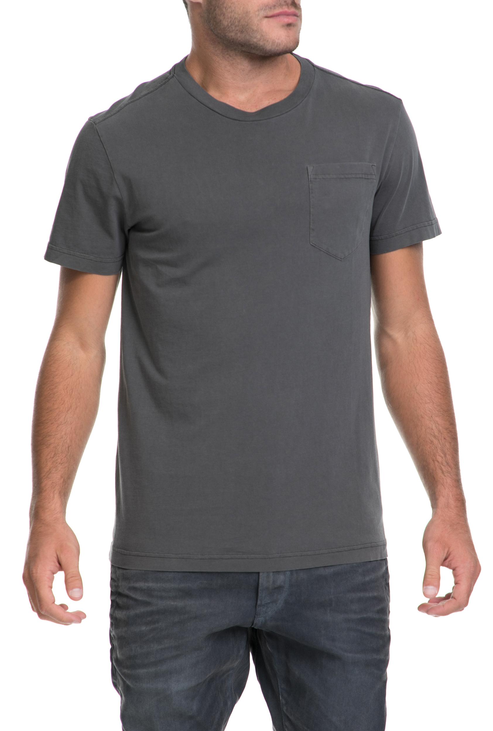 G-STAR - Αντρική μπλούζα Classic pocket G-STAR RAW γκρι ανδρικά ρούχα μπλούζες κοντομάνικες