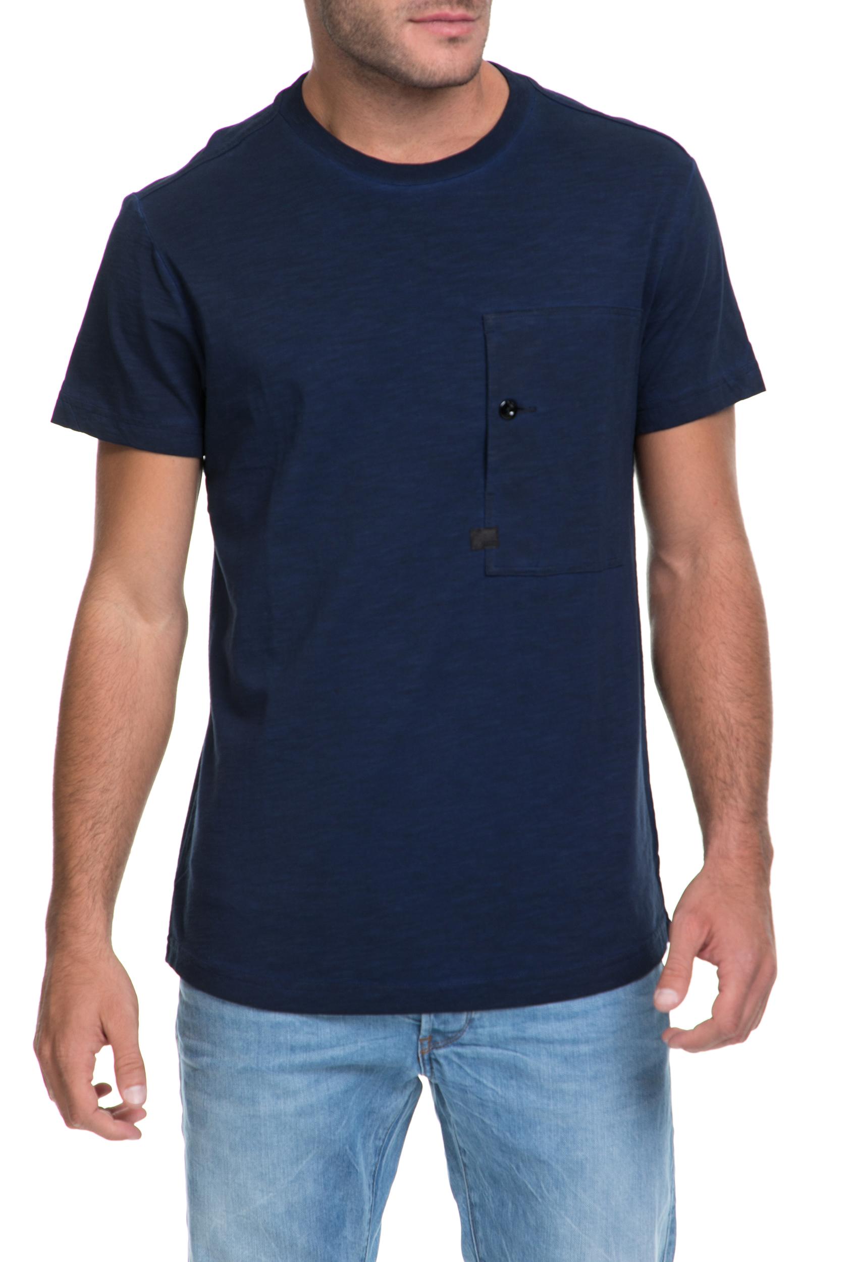 G-STAR RAW - Αντρική μπλούζα Stalt relaxed G-STAR RAW μπλε ανδρικά ρούχα μπλούζες κοντομάνικες