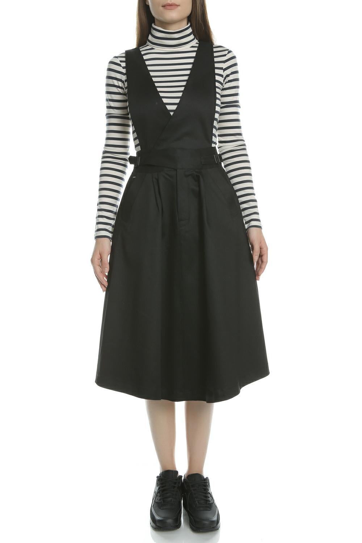 G-STAR RAW - Γυναικείο φόρεμα Bronson army deep-V G-Star μαύρο γυναικεία ρούχα φορέματα μέχρι το γόνατο