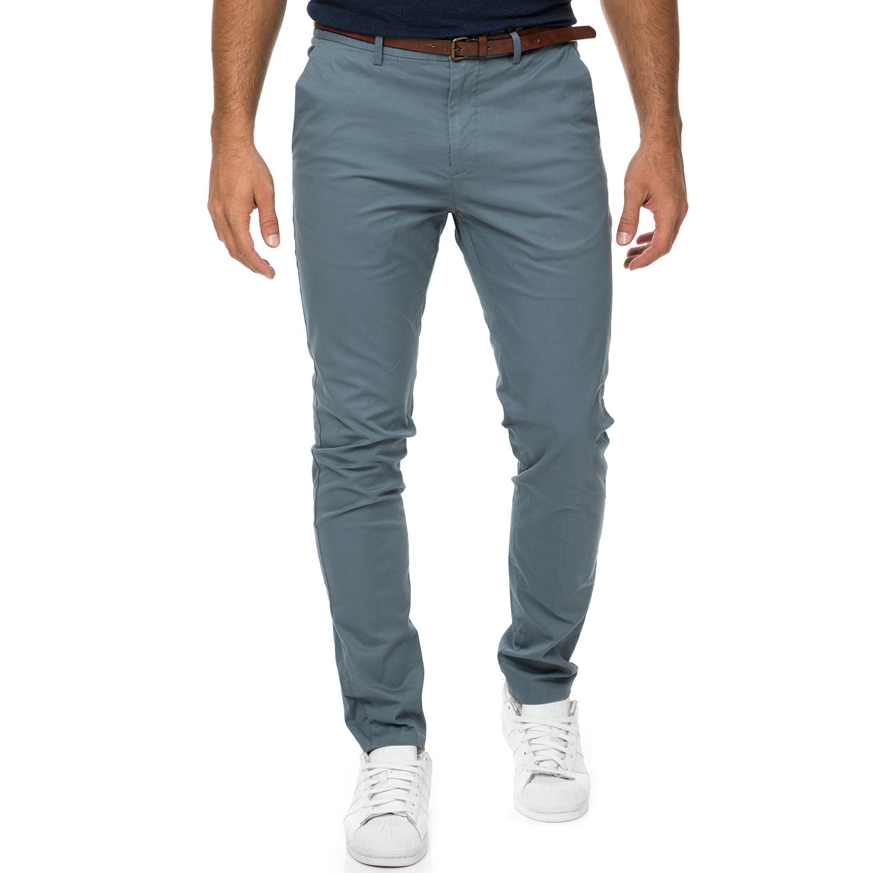 SCOTCH & SODA - Ανδρικό chino παντελόνι SCOTCH & SODA γκρι ανδρικά ρούχα παντελόνια chinos