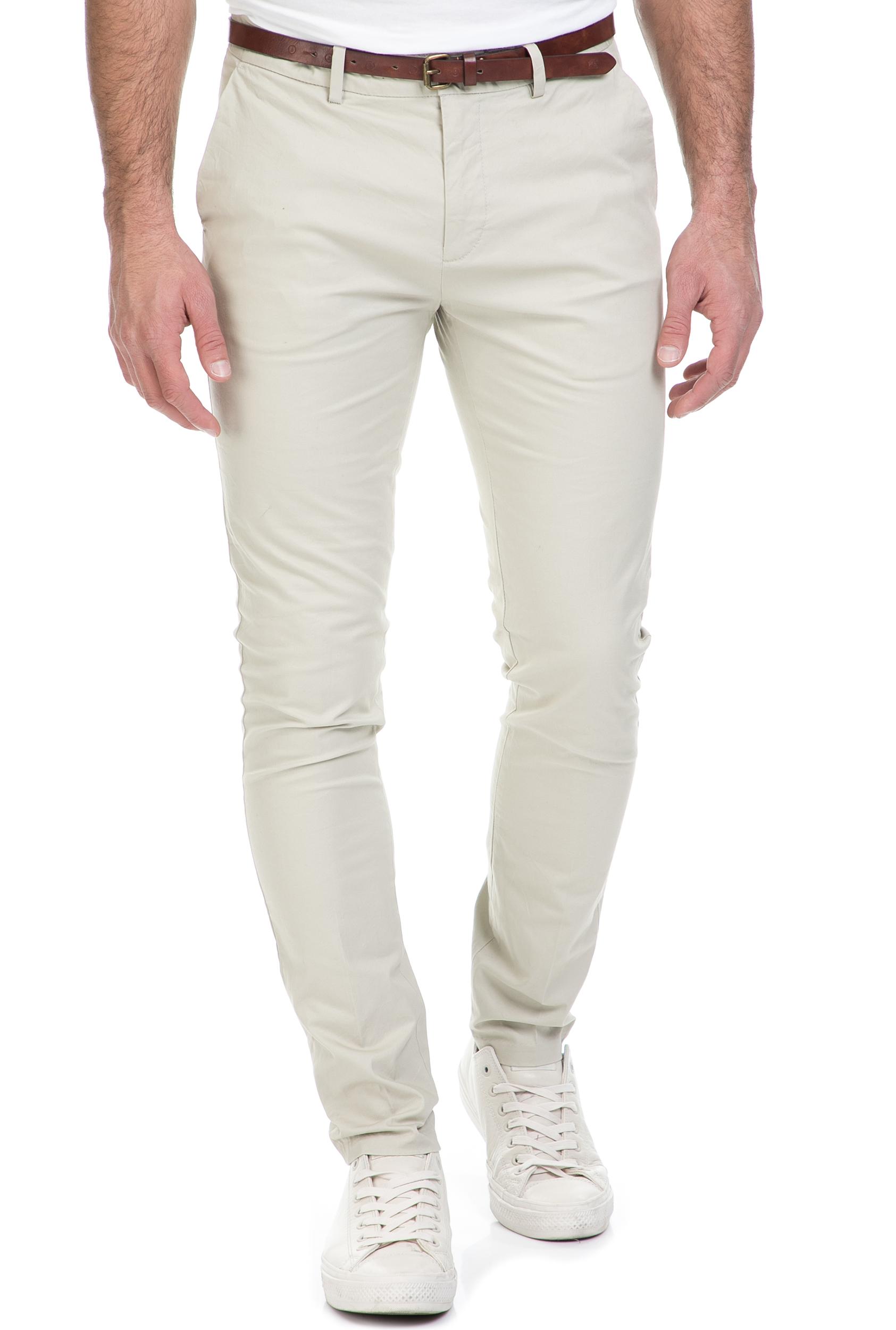 SCOTCH & SODA - Ανδρικό παντελόνι SCOTCH & SODA εκρού ανδρικά ρούχα παντελόνια chinos