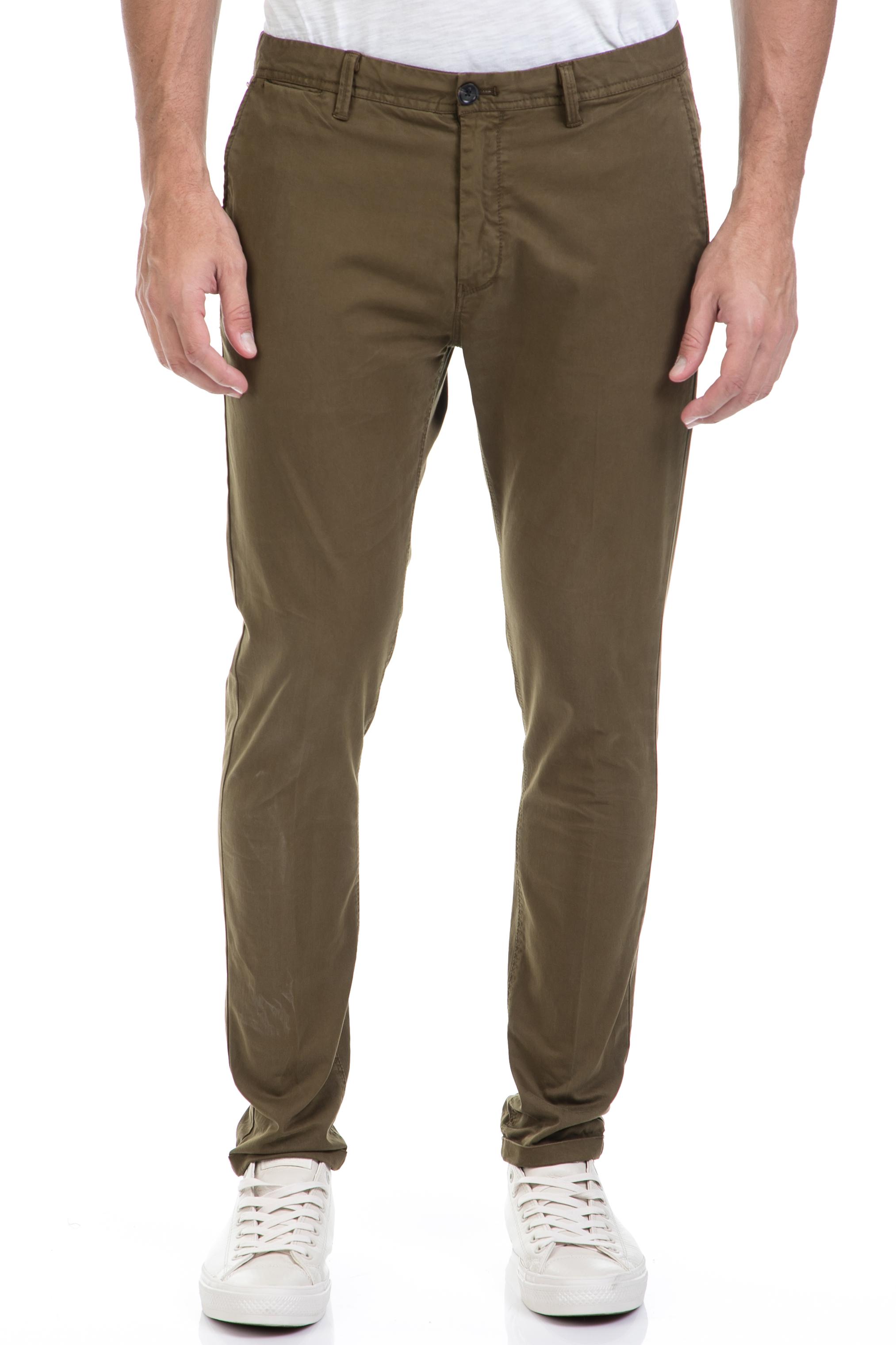 SCOTCH & SODA - Ανδρικό παντελόνι SCOTCH & SODA χακί ανδρικά ρούχα παντελόνια chinos