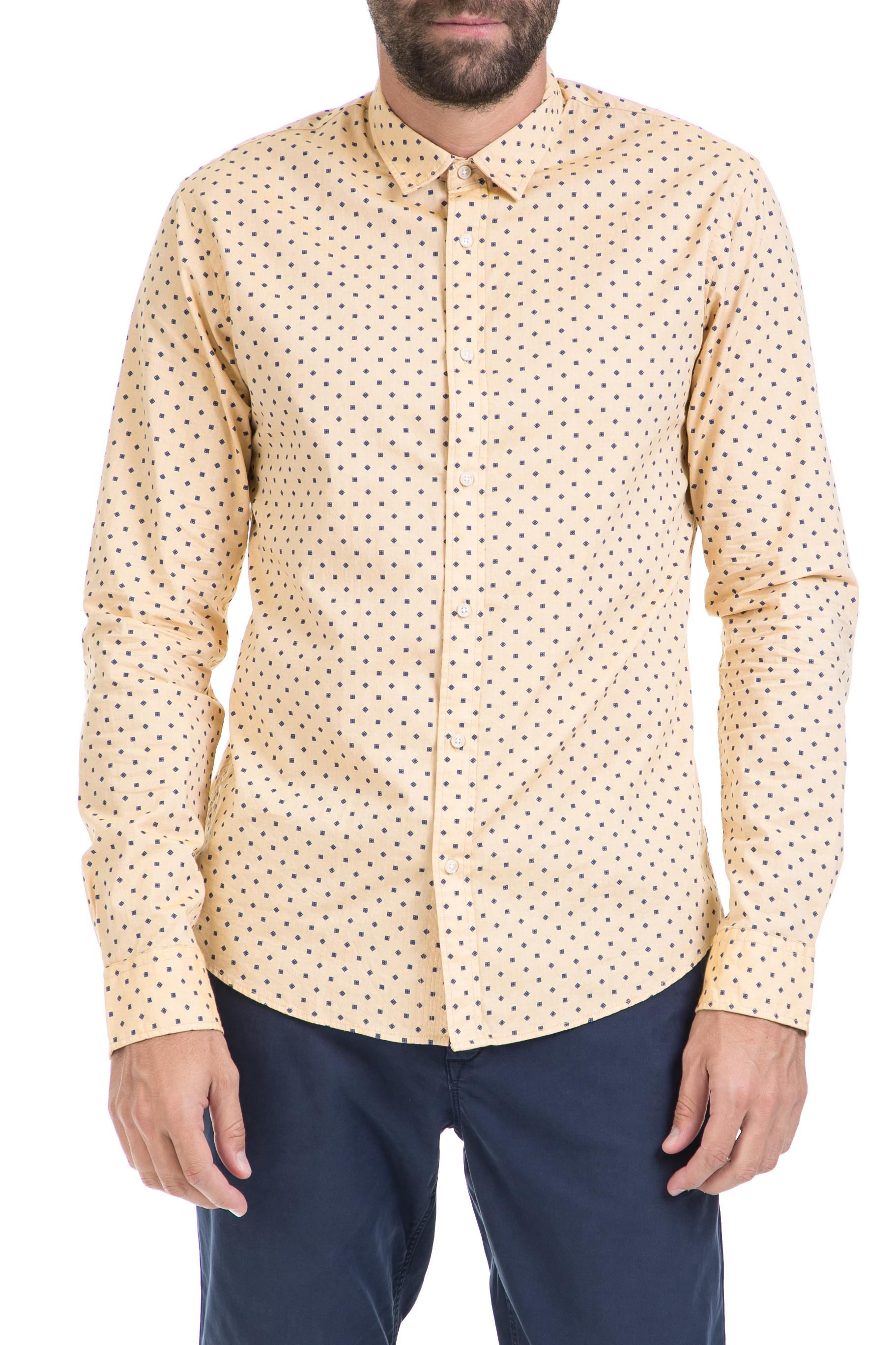 SCOTCH & SODA - Ανδρικό πουκάμισο Classic oxford shirt SCOTCH & SODA κίτρινο ανδρικά ρούχα πουκάμισα μακρυμάνικα