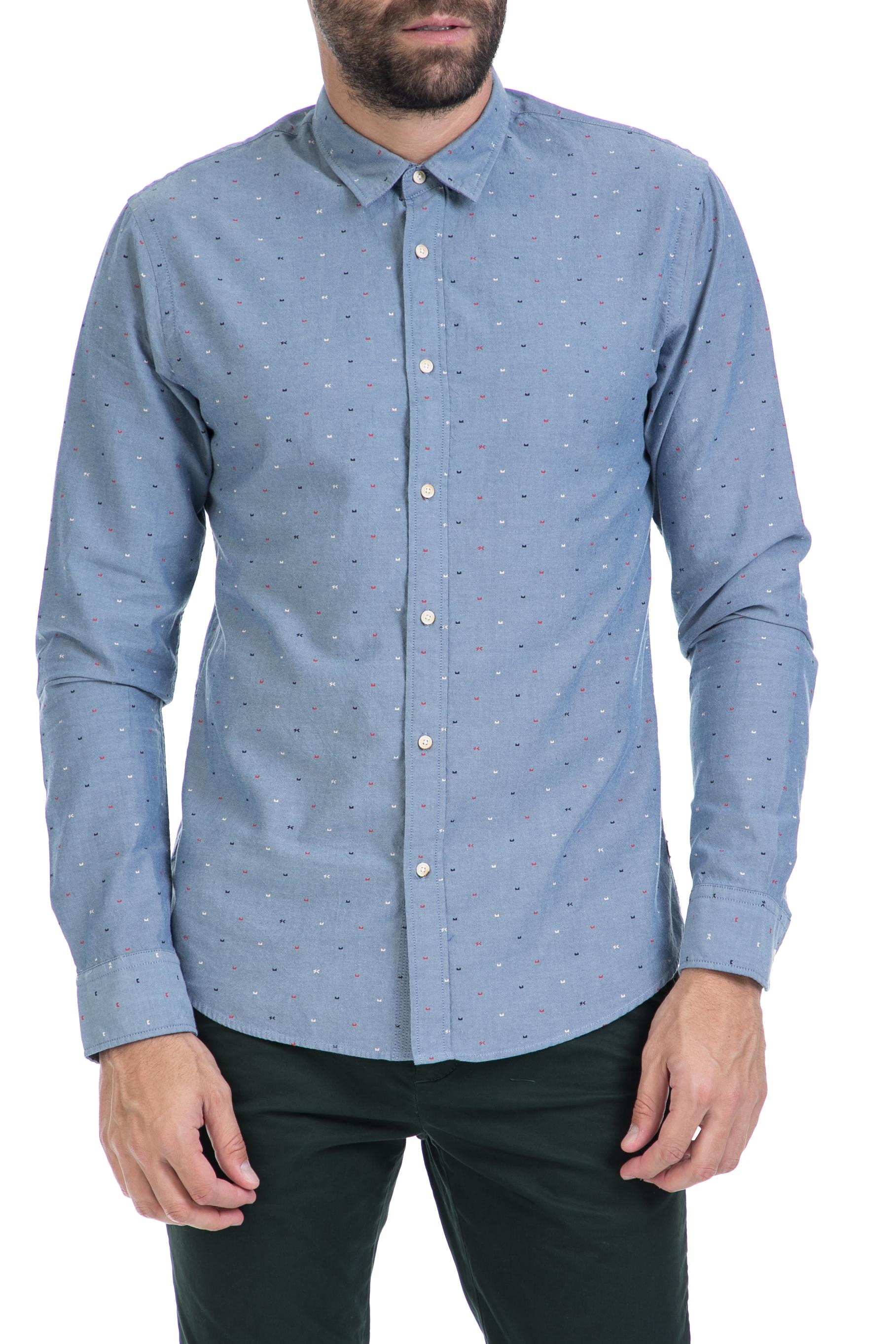 3fee36c1833c SCOTCH   SODA – Ανδρικό πουκάμισο Classic oxford shirt SCOTCH   SODA μπλε  1566474.0-0904 47