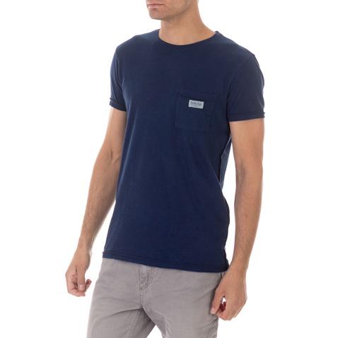 SCOTCH & SODA-Ανδρικό t-shirt SCOTCH & SODA Garment dyed tee μπλε