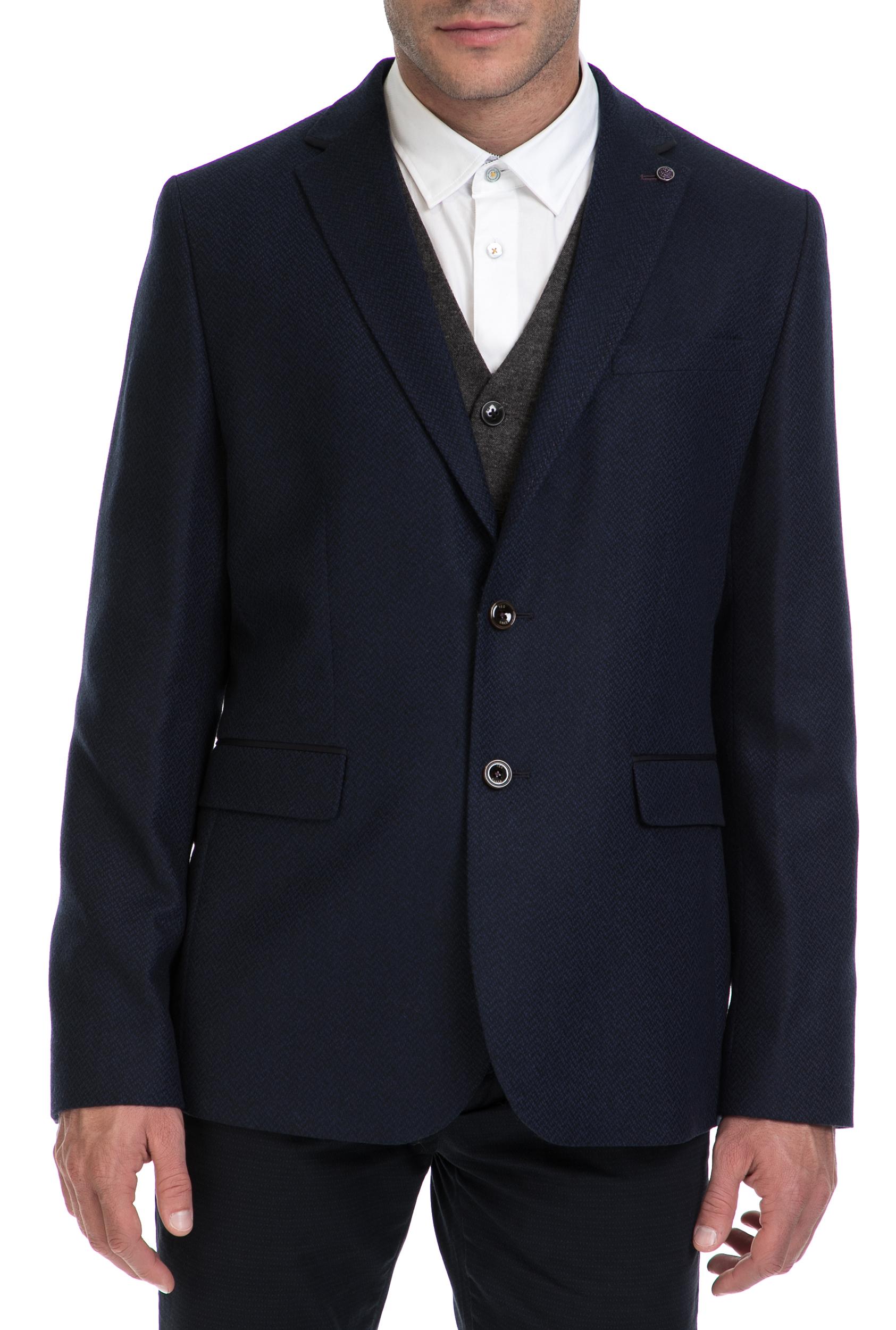 TED BAKER - Ανδρικό σακάκι GLEN TED BAKER μπλε ανδρικά ρούχα πανωφόρια σακάκια