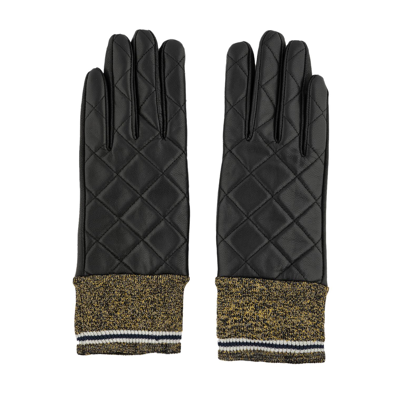 SCOTCH & SODA - Γυναικεία δερμάτινα γάντια SCOTCH & SODA μαύρα γυναικεία αξεσουάρ φουλάρια κασκόλ γάντια