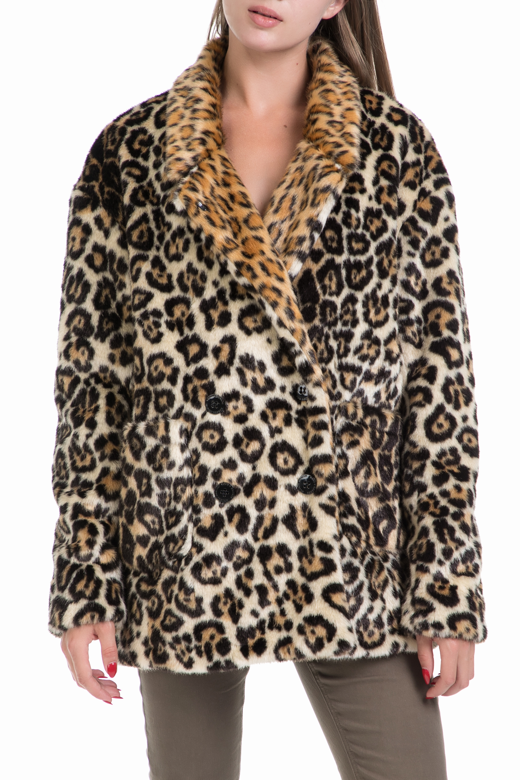 SCOTCH & SODA - Γυναικείο παλτό Maison Scotch λεοπάρ γυναικεία ρούχα πανωφόρια παλτό