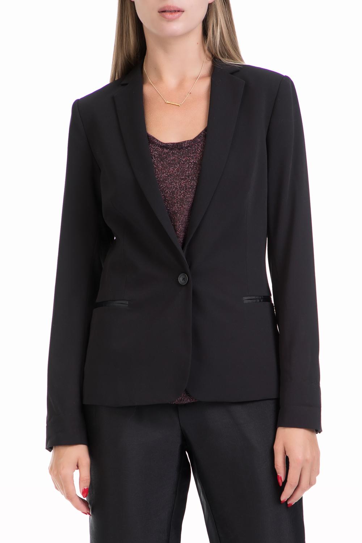 SCOTCH & SODA - Γυναικείο σακάκι Classic blazer with special μαύρο γυναικεία ρούχα πανωφόρια σακάκια