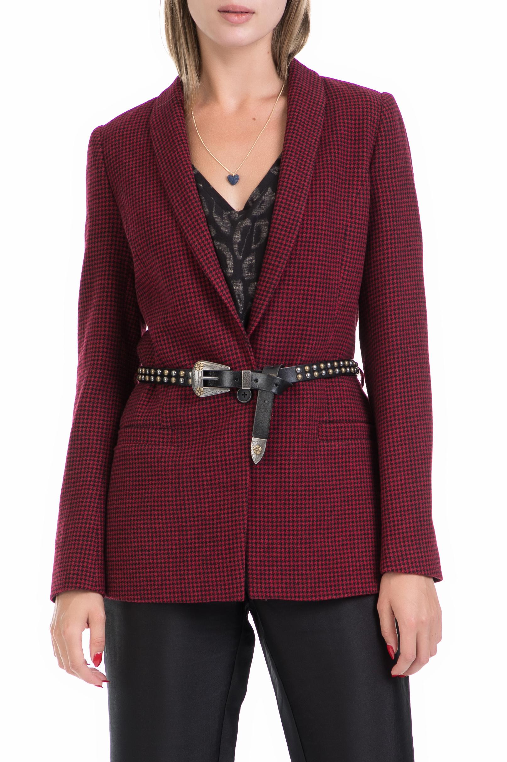 SCOTCH & SODA - Γυναικείο σακάκι Maison Scotch κόκκινο-μαύρο γυναικεία ρούχα πανωφόρια σακάκια