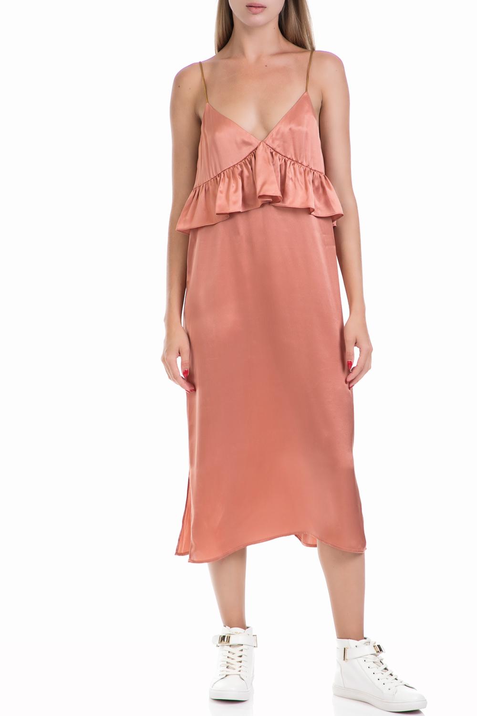 SCOTCH & SODA - Γυναικείο φόρεμα MAISON SCOTCH ροζ γυναικεία ρούχα φορέματα μάξι