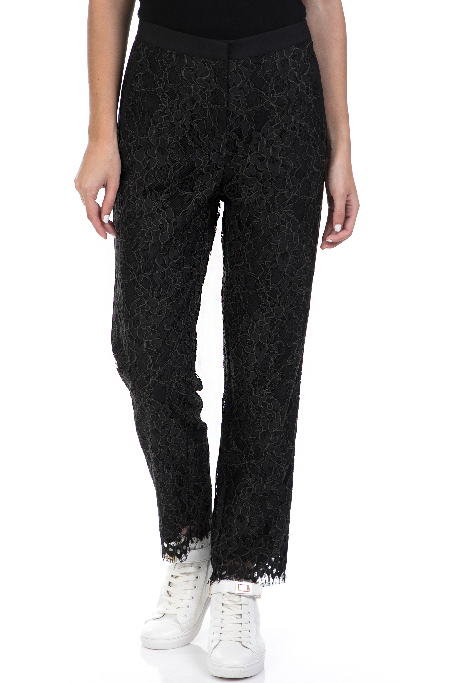 SCOTCH & SODA - Γυναικείο παντελόνι SCOTCH & SODA μαύρο γυναικεία ρούχα παντελόνια ισια γραμμή