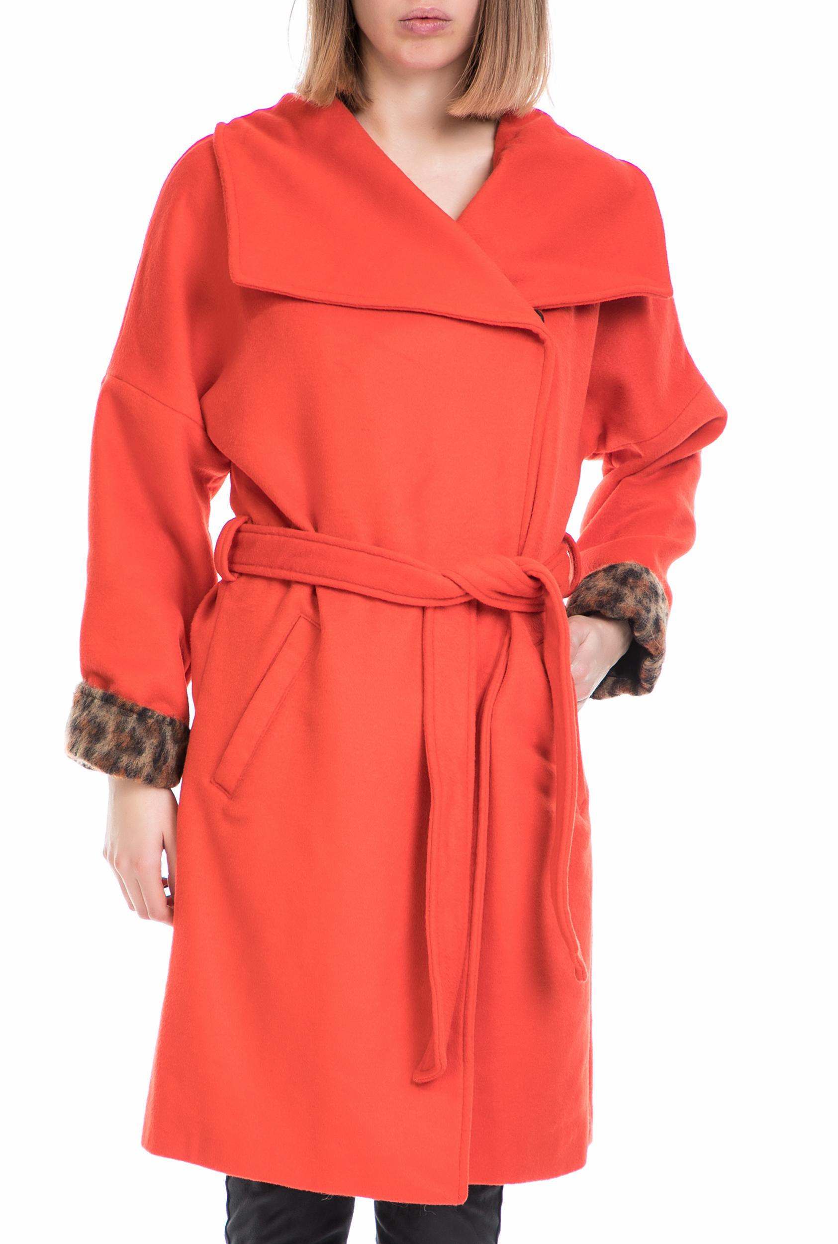SCOTCH & SODA - Γυναικείο παλτό SCOTCH & SODA κόκκινο γυναικεία ρούχα πανωφόρια παλτό