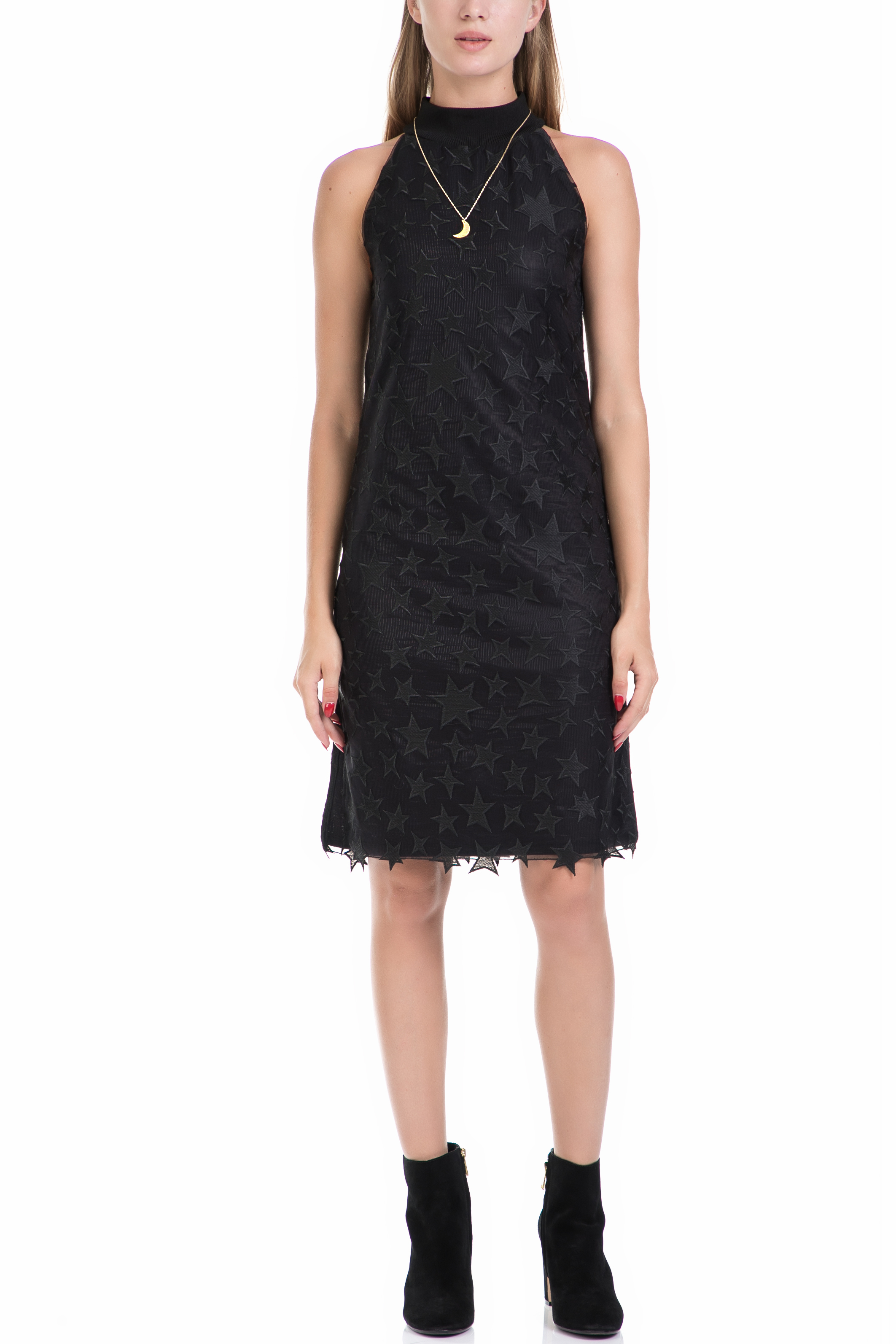 SCOTCH & SODA - Γυναικείο φόρεμα MAISON SCOTCH μαύρο γυναικεία ρούχα φορέματα μέχρι το γόνατο