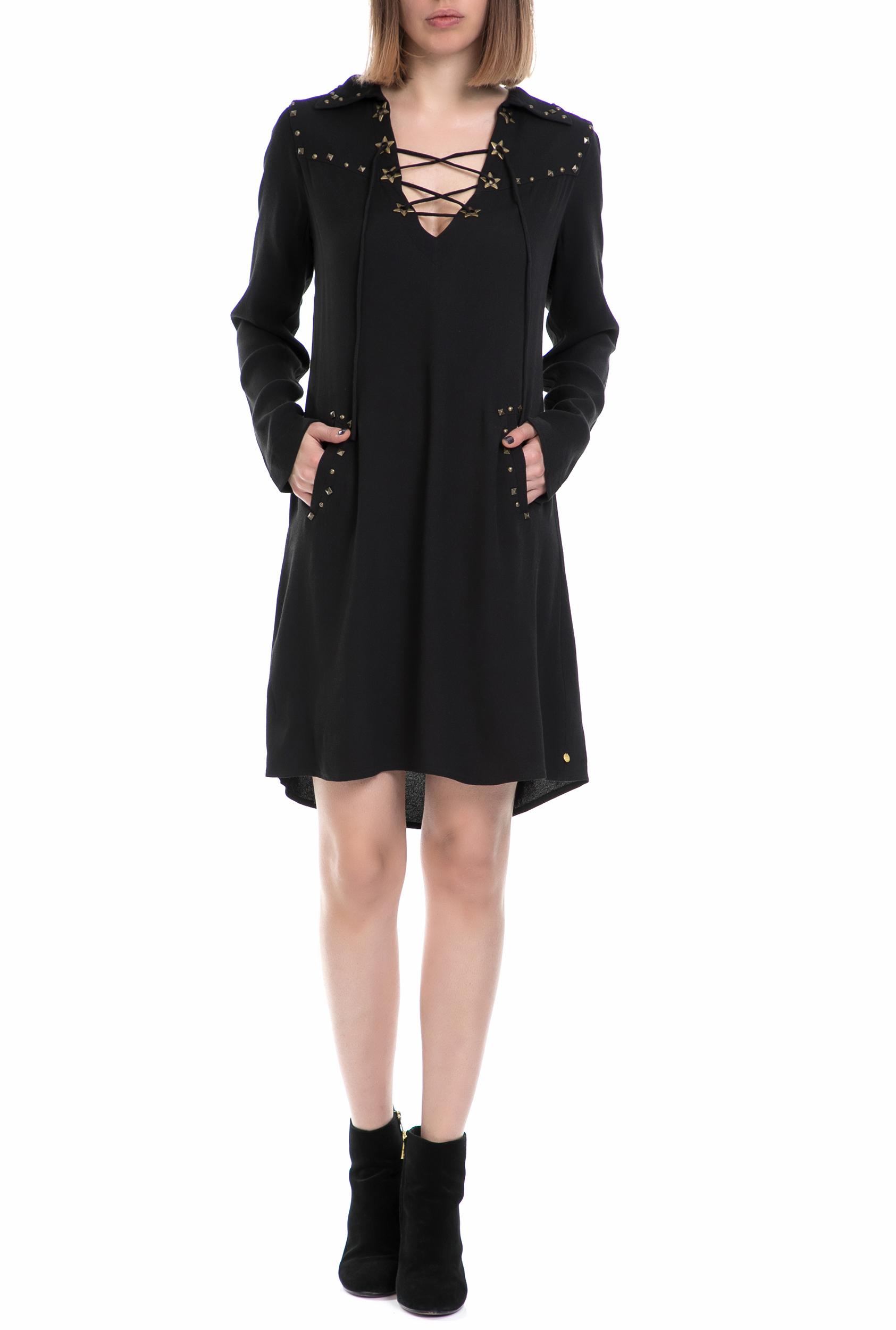 SCOTCH & SODA - Γυναικείο φόρεμα SCOTCH & SODA μαύρο γυναικεία ρούχα φορέματα μίνι