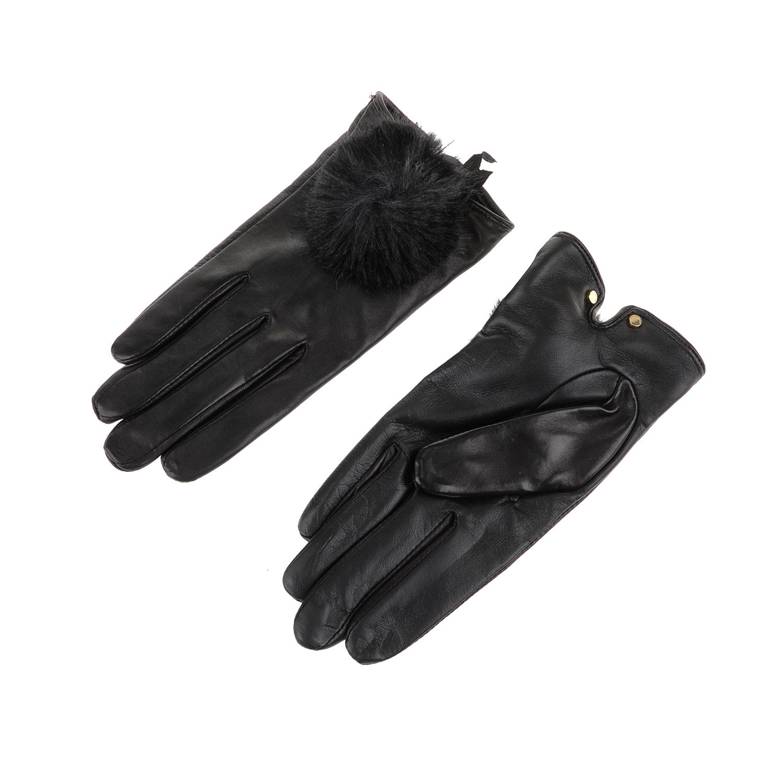 TED BAKER - Γυναικεία γάντια POMI TED BAKER μαύρα γυναικεία αξεσουάρ φουλάρια κασκόλ γάντια