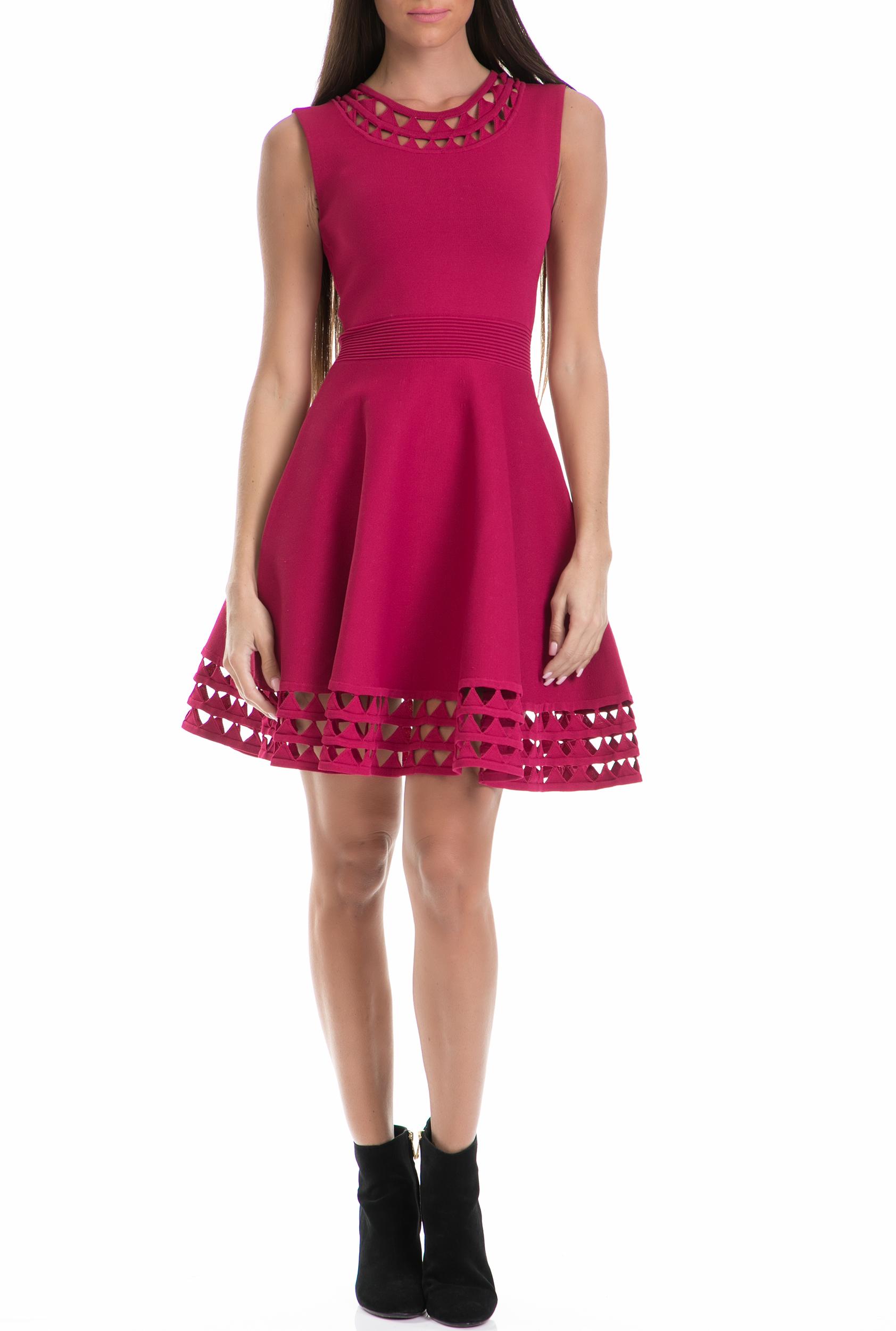 TED BAKER - Γυναικείο φόρεμα KATHRYN TED BAKER ροζ γυναικεία ρούχα φορέματα μίνι