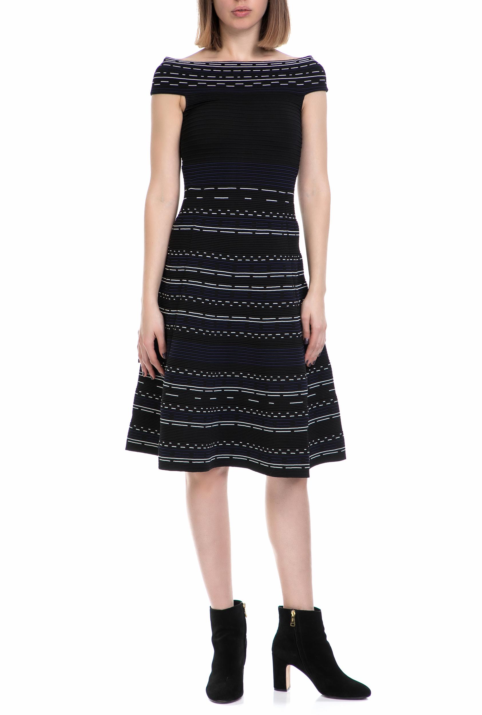 TED BAKER - Γυναικείο φόρεμα ROMARNI TED BAKER μαύρο γυναικεία ρούχα φορέματα μίνι