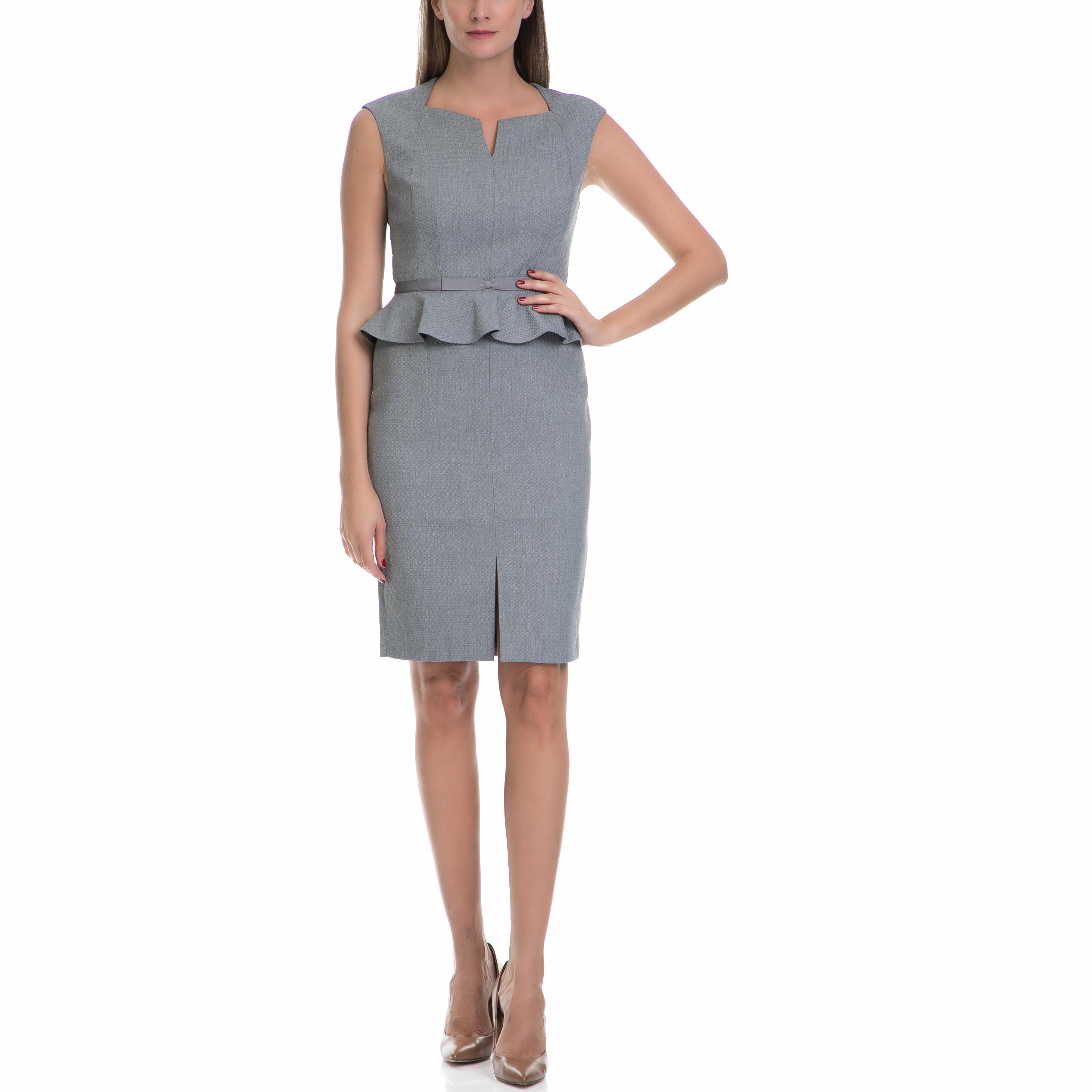 TED BAKER - Γυναικείο φόρεμα NADAED TED BAKER γκρι 88e6767e777