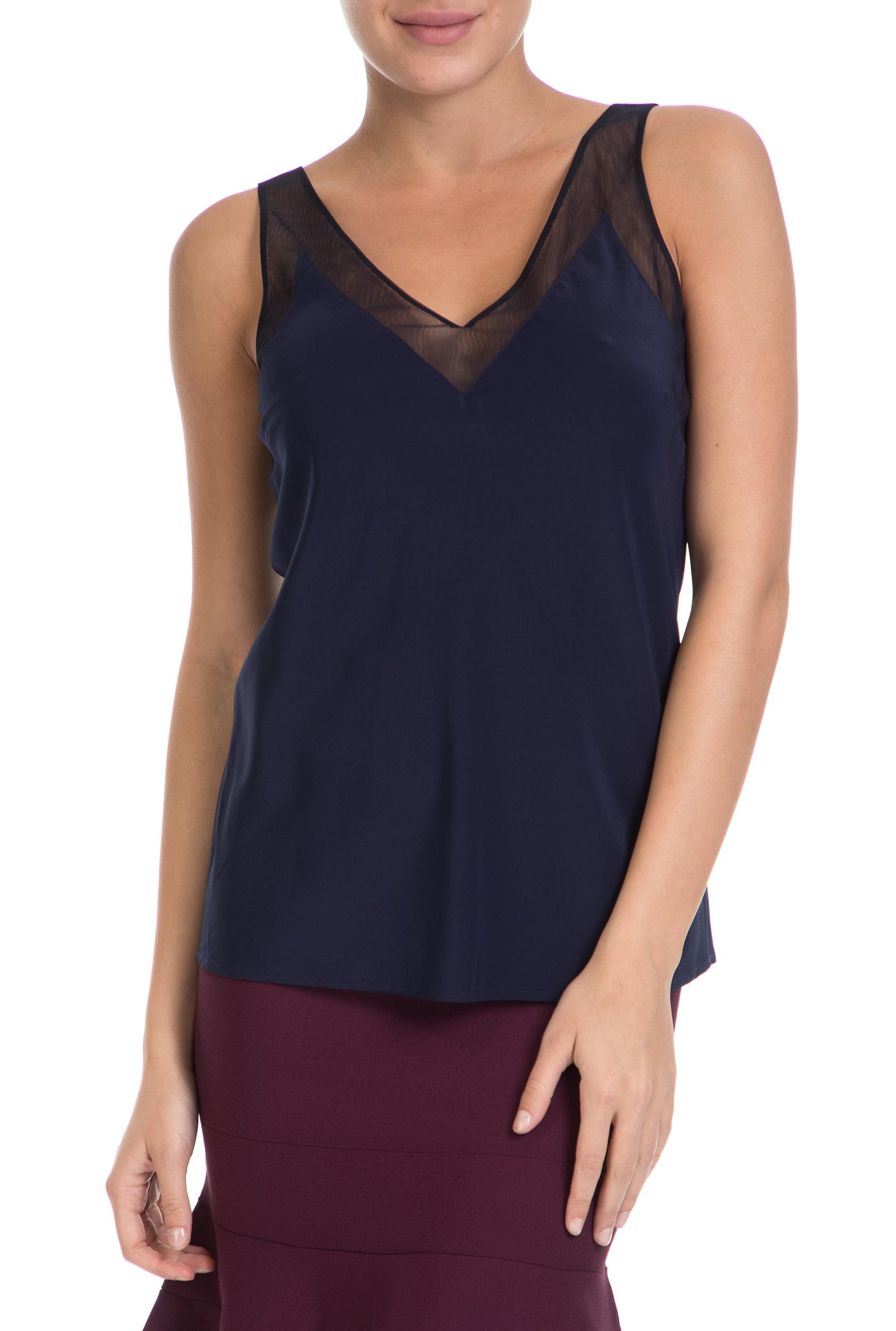 TED BAKER – Γυναικεία μπλούζα LEIAA V TED BAKER μπλε 68 c7222e0969d