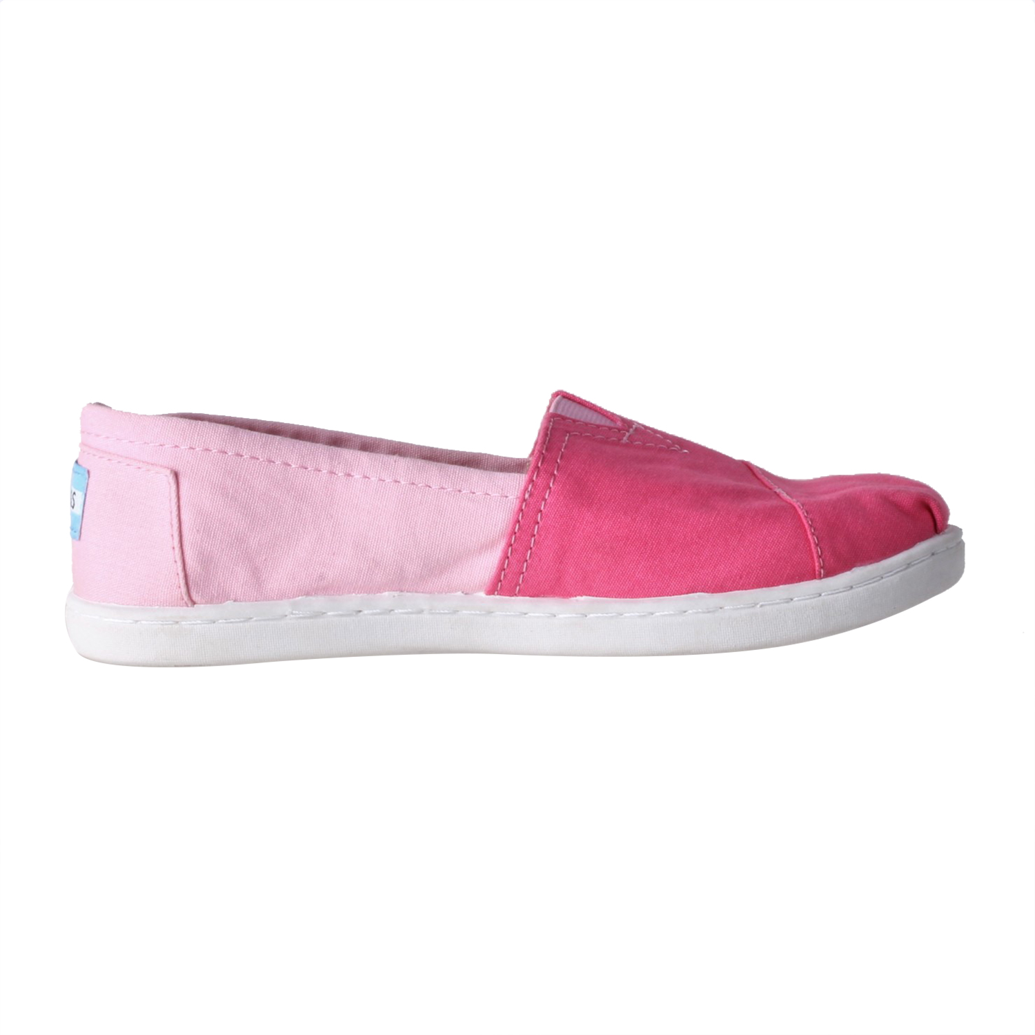 7fc6740529b -25% Factory Outlet TOMS – Παιδικά slip-ons TOMS CANVAS COLOR BLOCK  ροζ-φούξια