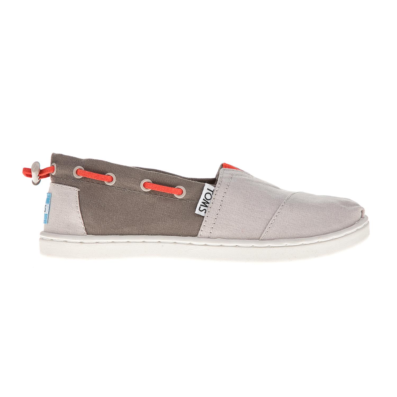 TOMS - Παιδικές εσπαντρίγιες TOMS γκρι παιδικά girls παπούτσια εσπαντρίγιες slip on