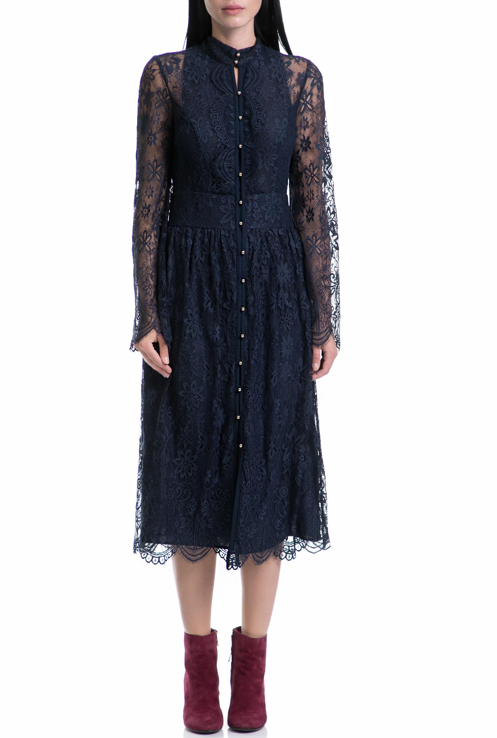 JUICY COUTURE - Γυναικείο φόρεμα KENDALL JUICY COUTURE μπλε γυναικεία ρούχα φορέματα μάξι