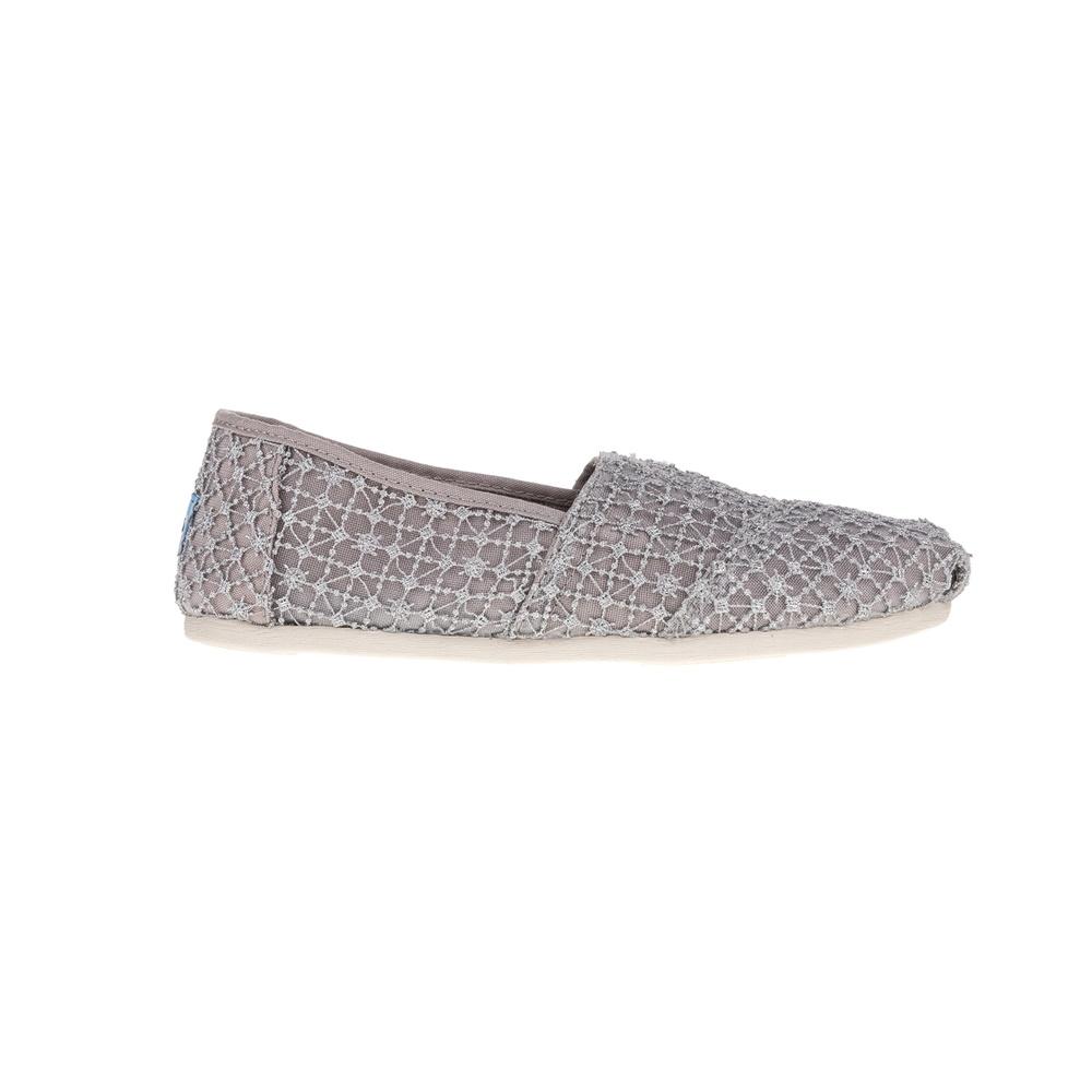 TOMS – Γυναικεία slip-on Toms Classic Silver Crochet Lace ασημί
