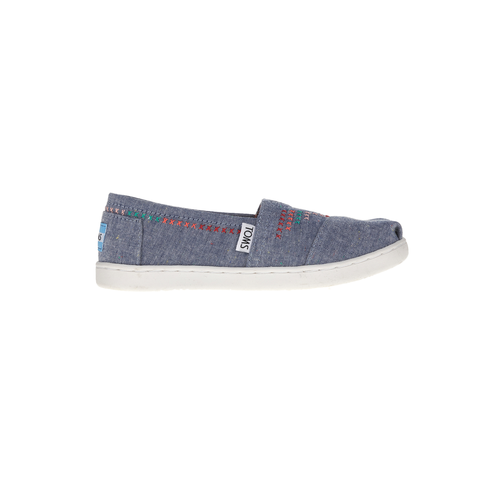 TOMS - Παιδικές εσπαντρίγιες TOMS SPKLE CHM YT ALPR ντένιμ παιδικά girls παπούτσια εσπαντρίγιες slip on