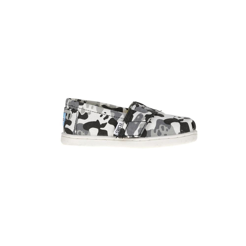 TOMS - Παιδικές εσπαντριγιές TOMS PANDA CAMO BLACK με γκρι μοτίβο παραλλαγής παιδικά boys παπούτσια εσπαντρίγιες slip on