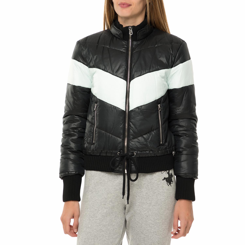 JUICY COUTURE - Γυναικείο μπουφάν JUICY COUTURE HW COLORBLOCK PUFFER μαύρο γυναικεία ρούχα πανωφόρια μπουφάν