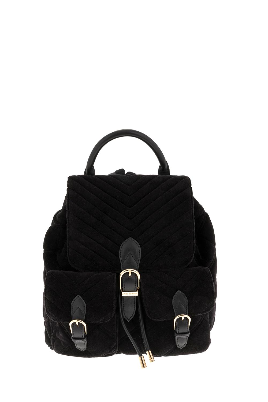JUICY COUTURE - Γυναικείο σακίδιο backpack βελούδινο Juicy Couture μαύρο γυναικεία αξεσουάρ τσάντες σακίδια πλάτης