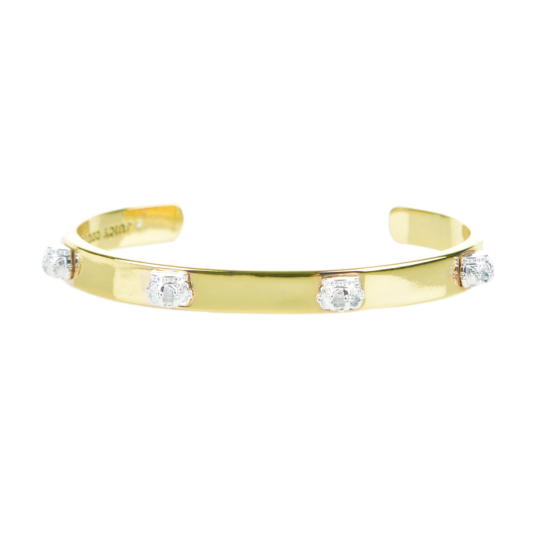 JUICY COUTURE - Γυναικείο ανοιχτό σταθερό βραχιόλι JUICY COUTURE χρυσό γυναικεία αξεσουάρ κοσμήματα βραχιόλια