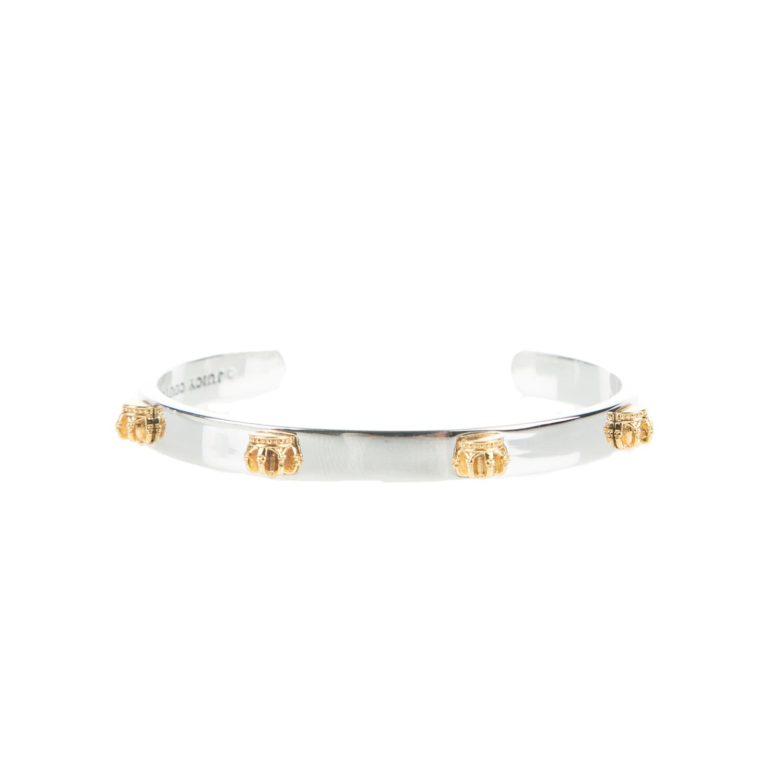 JUICY COUTURE - Γυναικείο ανοιχτό σταθερό βραχιόλι JUICY COUTURE ασημί γυναικεία αξεσουάρ κοσμήματα βραχιόλια