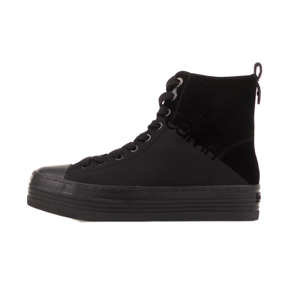 CALVIN KLEIN JEANS – Γυναικεία μποτάκια sneakers CALVIN KLEIN JEANS ZAZAH μαύρα