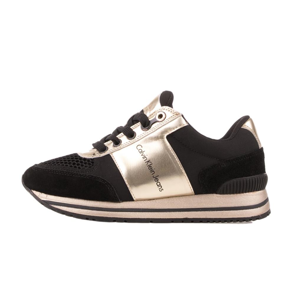 CALVIN KLEIN JEANS – Γυναικεία sneakers CALVIN KLEIN JEANS TANYA μαύρο-χρυσό