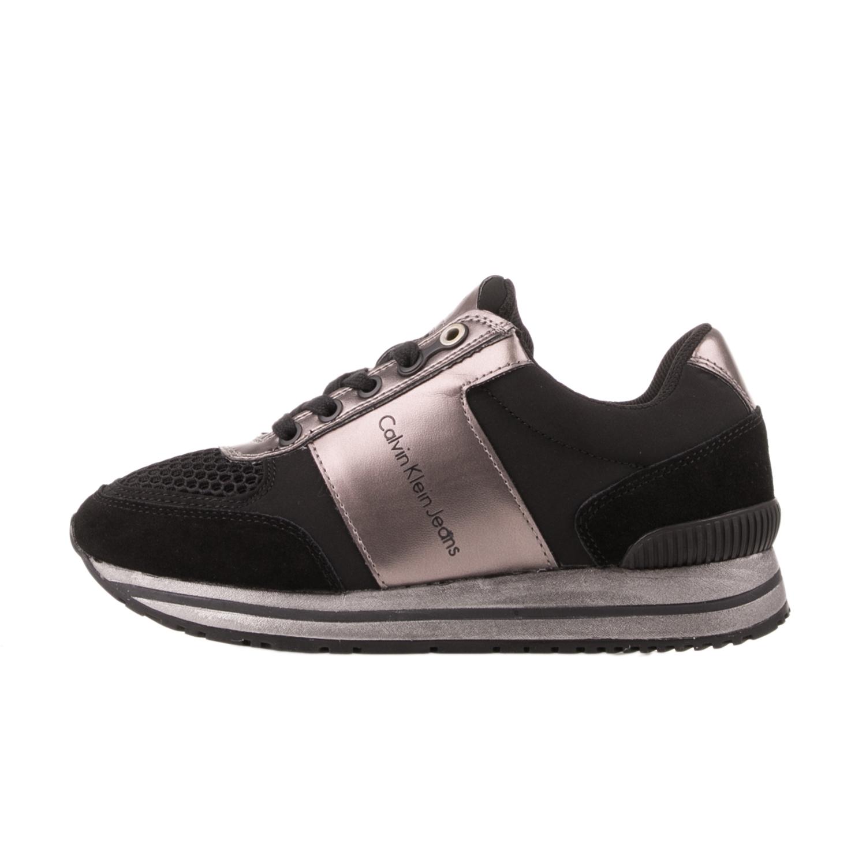 CALVIN KLEIN JEANS – Γυναικεία sneakers CALVIN KLEIN JEANS TANYA μαύρο-ασημί