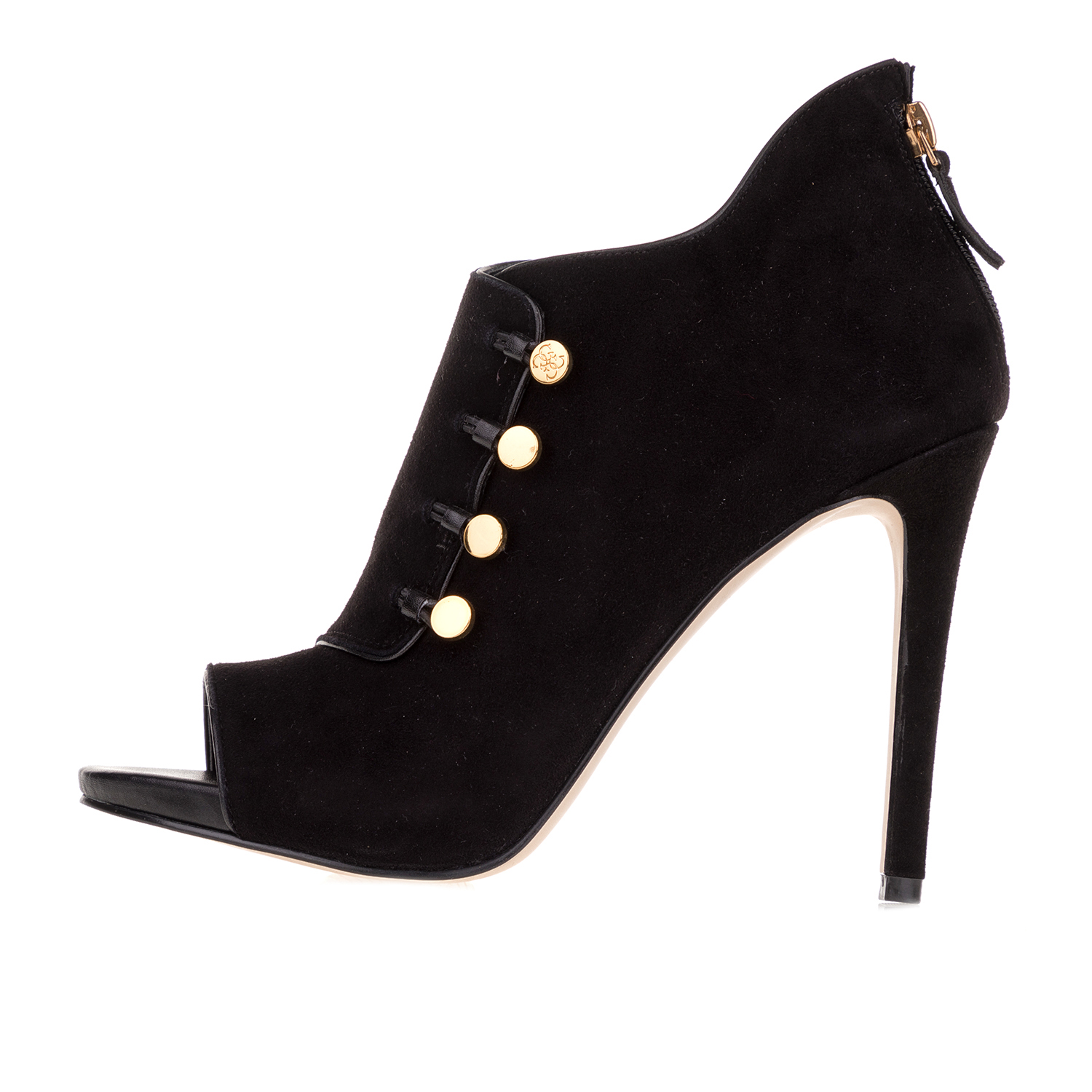 GUESS – Γυναικεία μποτάκια peep toe GUESS ABY SHOOTIE μαύρα