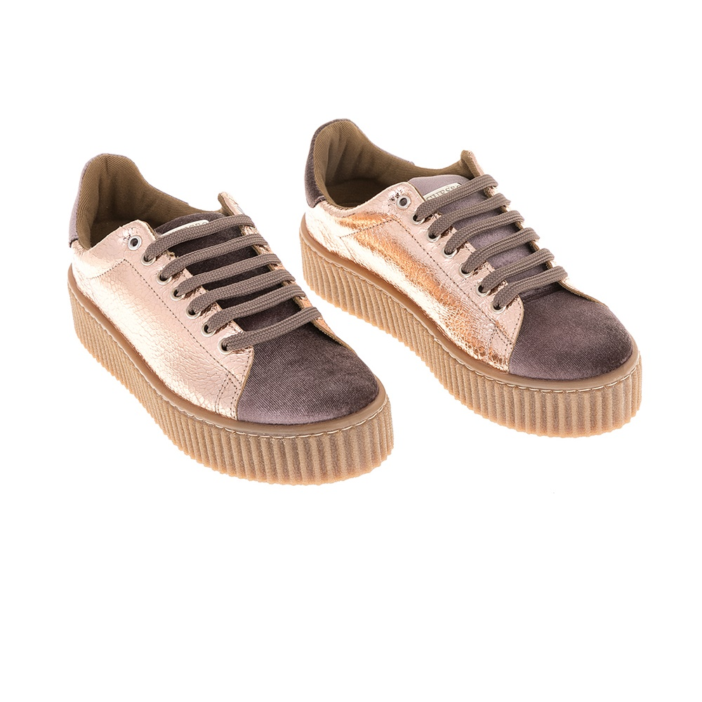 c73d9b0eadf GUESS - Γυναικεία sneakers Guess ροζ μεταλλικό, Γυναικεία sneakers ...