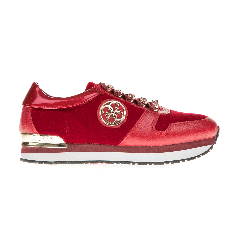 GUESS – Γυναικεία sneakers GUESS ROMAN κόκκινα