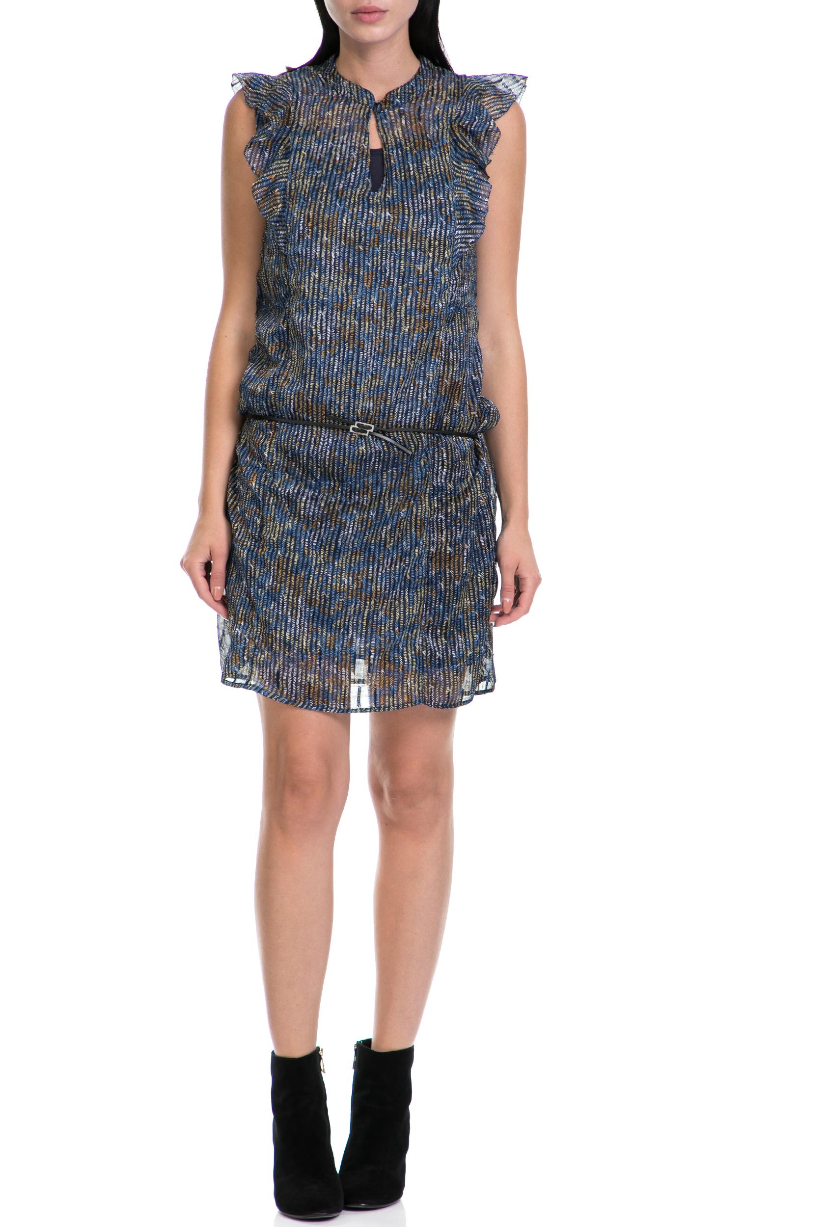 GARCIA JEANS - Γυναικείο φόρεμα GARCIA JEANS μπλε-καφέ γυναικεία ρούχα φορέματα μίνι