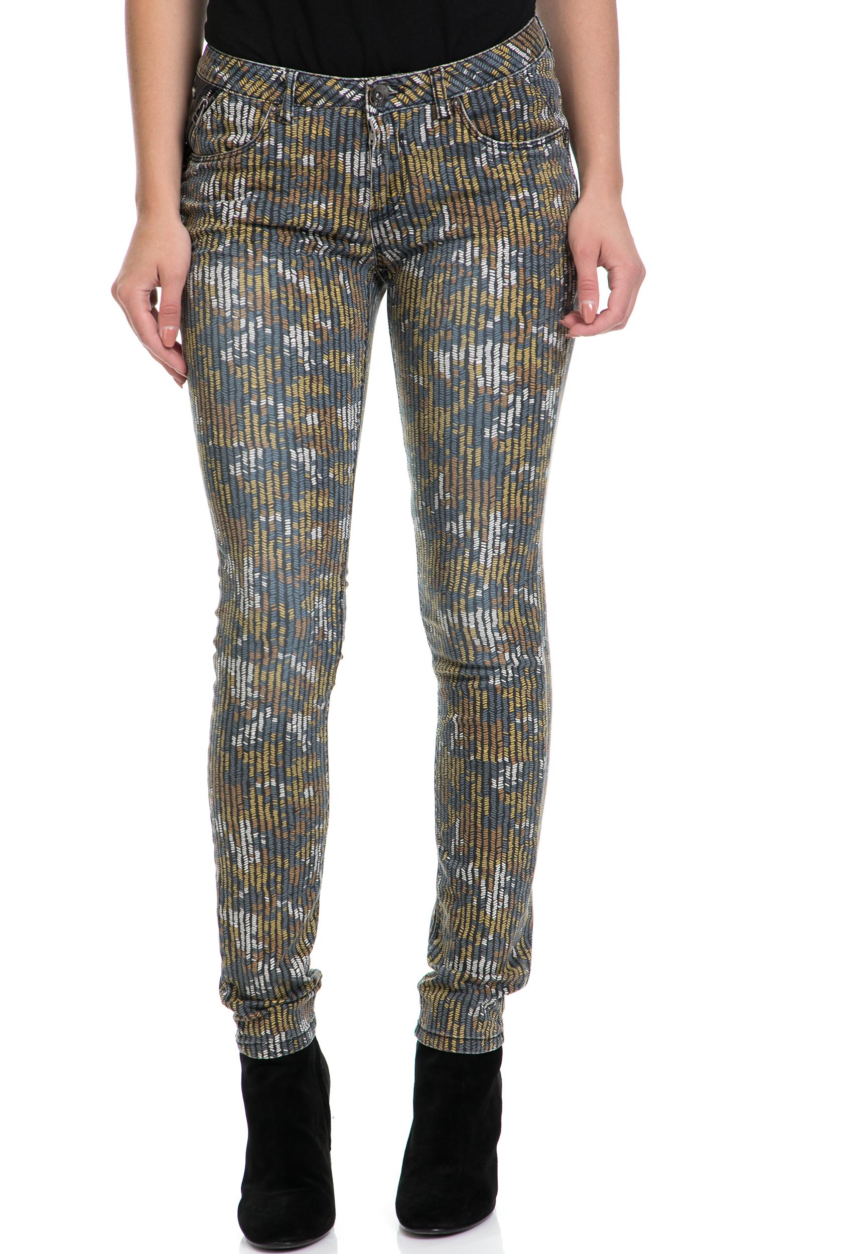 GARCIA JEANS - Γυναικείο παντελόνι Riva μπλε-χρυσό γυναικεία ρούχα παντελόνια skinny