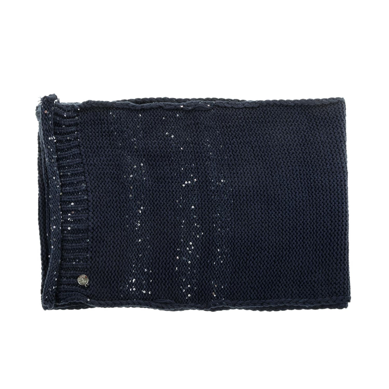 GUESS - Γυναικείο κασκόλ NOT COORDINATED SCARF μπλε σκούρο γυναικεία αξεσουάρ φουλάρια κασκόλ γάντια