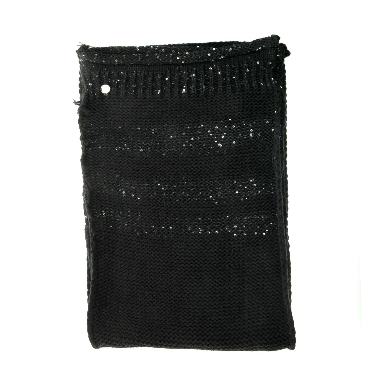 GUESS - Γυναικείο κασκόλ NOT COORDINATED SCARF μαύρο γυναικεία αξεσουάρ φουλάρια κασκόλ γάντια