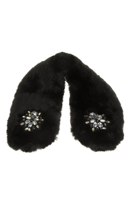 GUESS - Γυναικείος γιακάς GUESS μαύρος γυναικεία αξεσουάρ φουλάρια κασκόλ γάντια