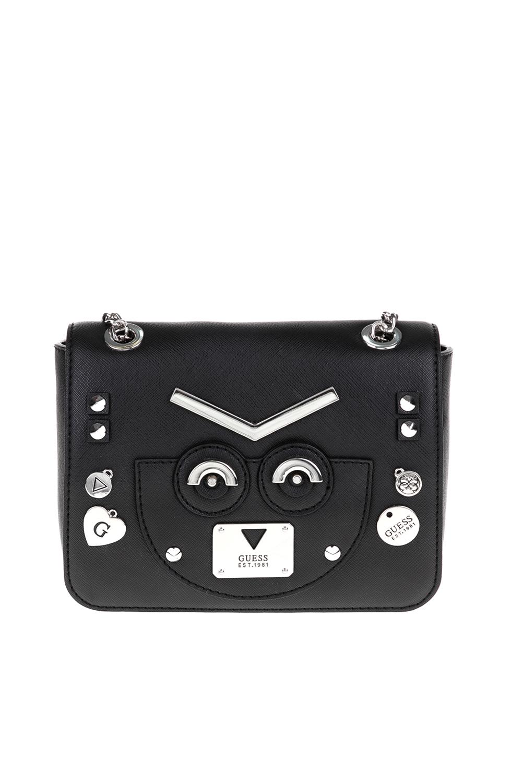 GUESS - Γυναικεία τσάντα CYBER ROCK FLAP GUESS μαύρο 96c2b9a4480