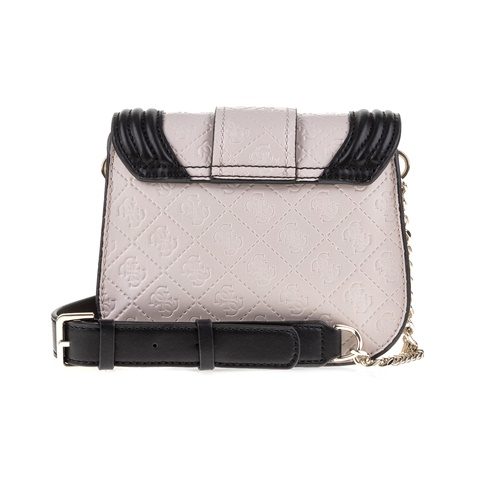 GUESS-Γυναικεία τσάντα LORIEN GUESS γκρι-μαύρη