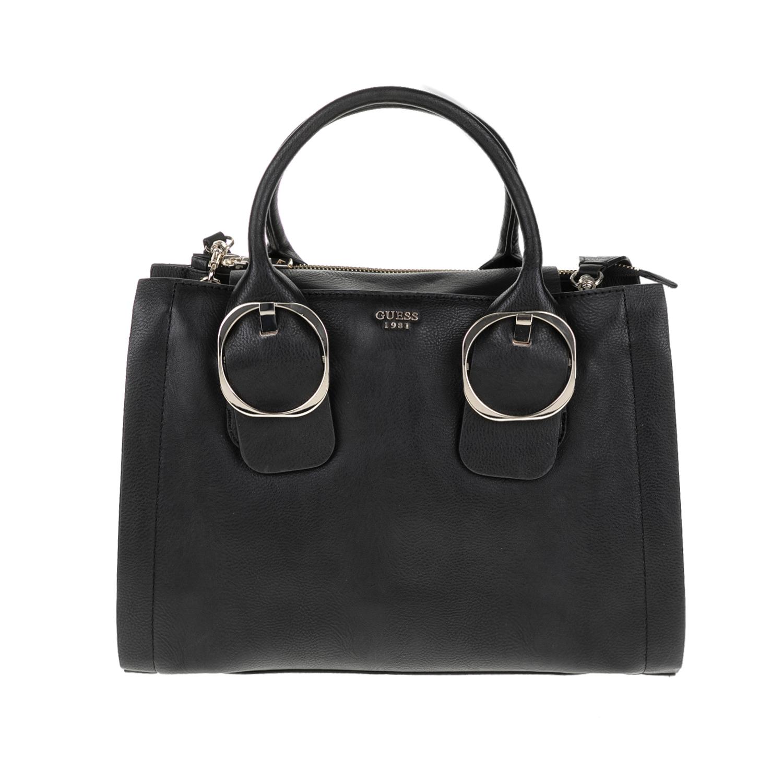 GUESS - Γυναικεία τσάντα MOONEY GUESS μαύρη γυναικεία αξεσουάρ τσάντες σακίδια χειρός