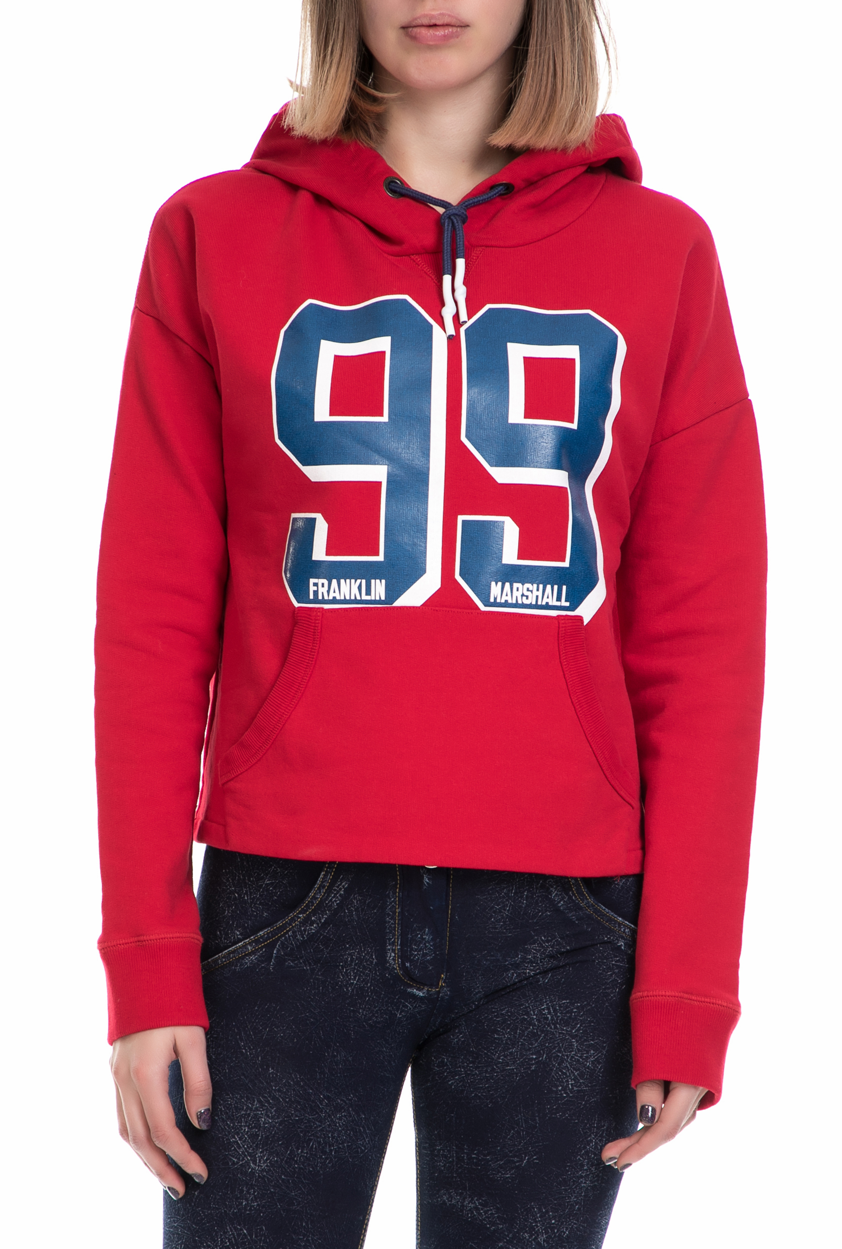 eea605a01ca2 FRANKLIN   MARSHALL – Γυναικεία φούτερ μπλούζα FRANKLIN   MARSHALL κόκκινη